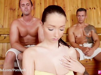 big tits, brunette, cum, curvy, czech, fuck, hardcore, hd videos, hottie, mmf, natural, orgasm, pornstar, sauna, threesome, wild