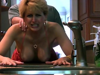 big tits, blonde, cougar, doggystyle, facial