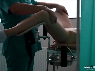 babe, bdsm, chair, doctor, latex, medical, orgasm, voyeur