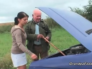 babe, cute, grandpa, outdoor, sex, sexy