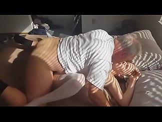 big dick, creampie, fuck, grandpa, husband, missionary, pregnant, wife