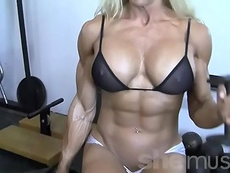 babe, blonde, muscle, nipples, rough sex, sex, sexy, softcore, work