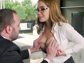 blowjob, glasses, hardcore, hottie, milf